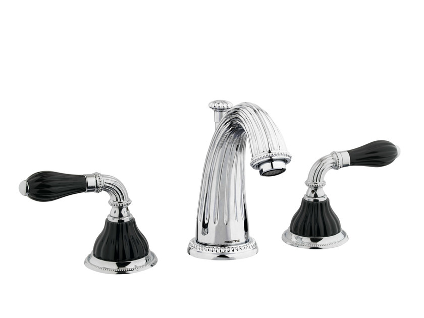 3 hole chrome-plated washbasin tap with polished finishing 233501.N000.50   Washbasin tap - Bronces Mestre