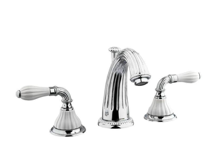 3 hole chrome-plated washbasin tap with polished finishing 233501.0000.50   Washbasin tap - Bronces Mestre