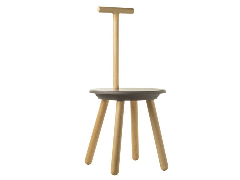Beech bathroom stool RUNG | Bathroom stool - EVER by Thermomat Saniline