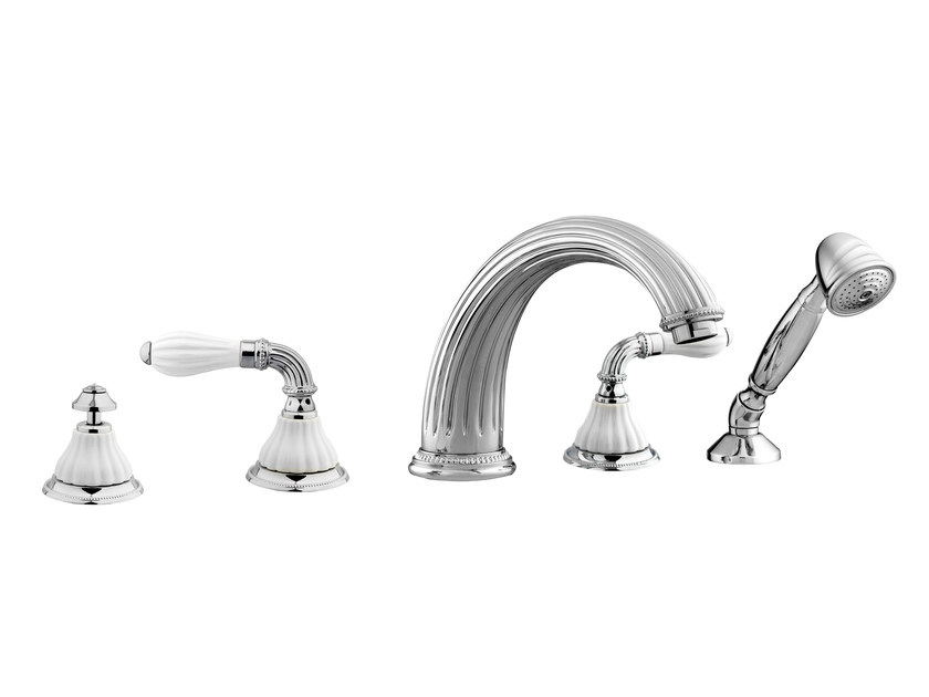 5 hole bathtub set with hand shower 233516.0000.50 | Bathtub set by Bronces Mestre