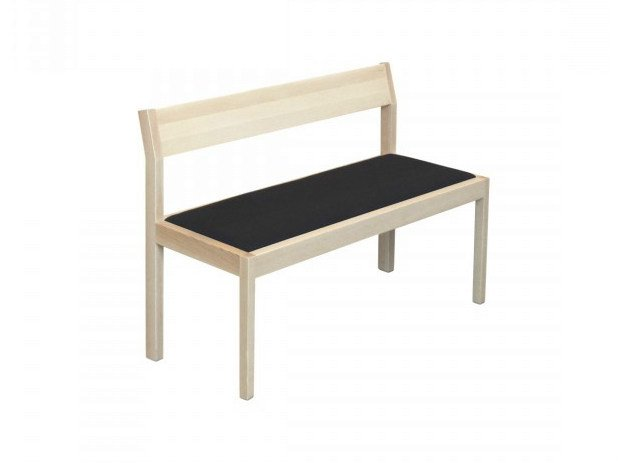 Wooden bench with back SEMINAR KVI3 by Nikari