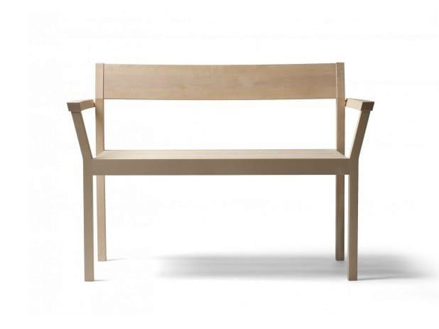 Wooden bench with back PERIFERIA KVI5 - Nikari
