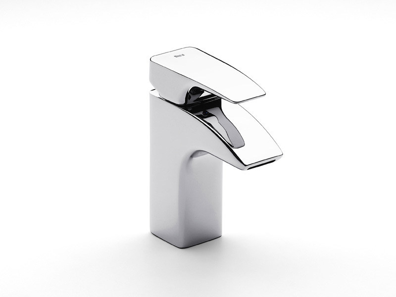 Chrome-plated 1 hole washbasin mixer THESIS | 1 hole washbasin mixer - ROCA SANITARIO