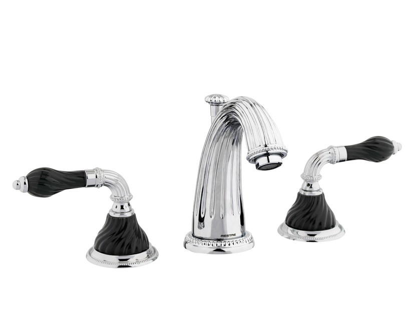 3 hole chrome-plated washbasin tap with polished finishing 233501.NSL0.50 | Washbasin tap by Bronces Mestre