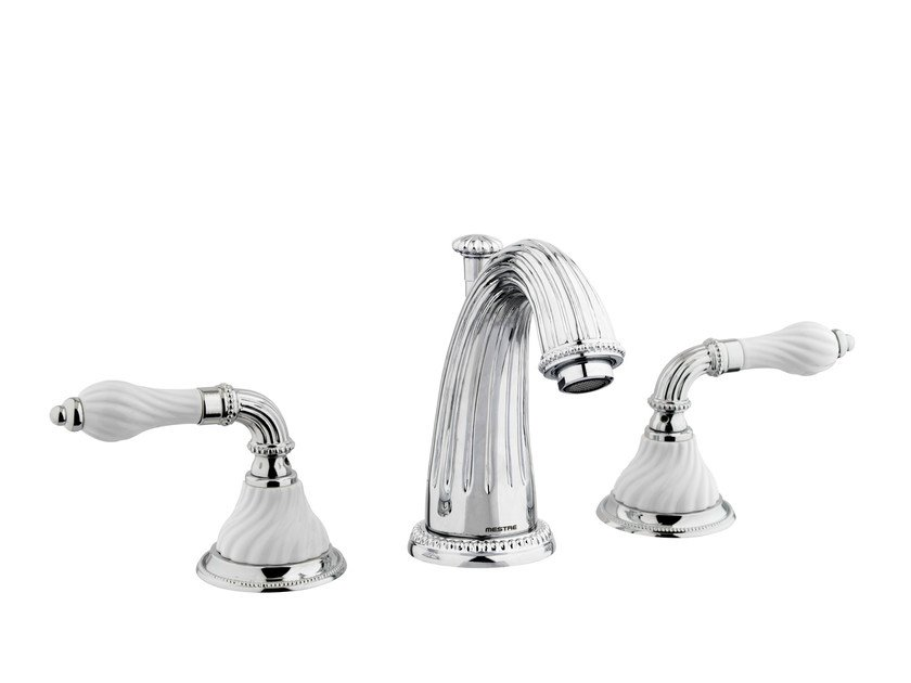 3 hole chrome-plated washbasin tap with polished finishing 233501.SL00.50 | Washbasin tap - Bronces Mestre