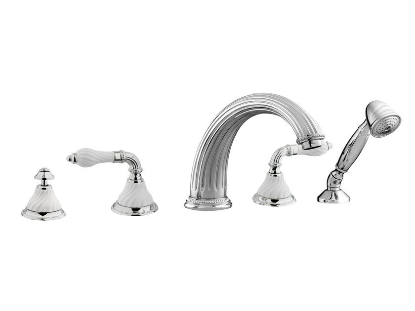 3 hole bathtub set with hand shower 233516.SL00.50 | Bathtub tap - Bronces Mestre