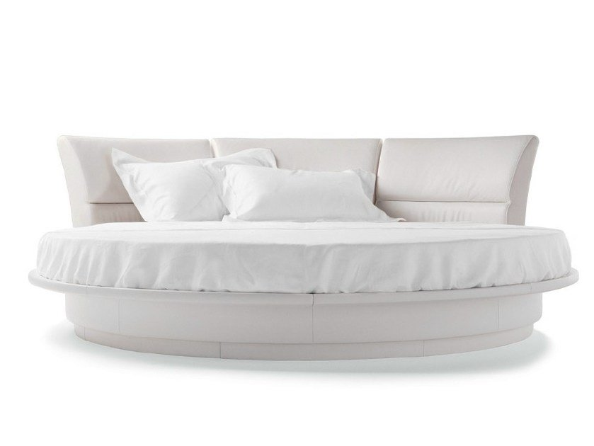 Round double bed LULLABY DUE by Poltrona Frau