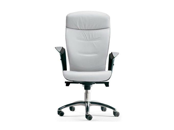 Executive chair with armrests BRIEF | Executive chair by Poltrona Frau