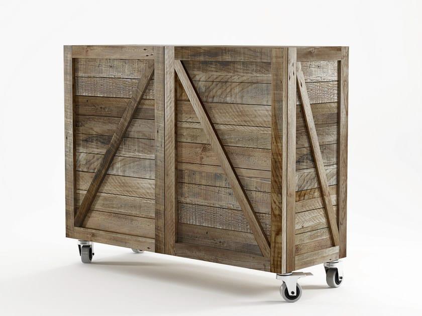 Reclaimed wood highboard with doors KRATE | Highboard - KARPENTER