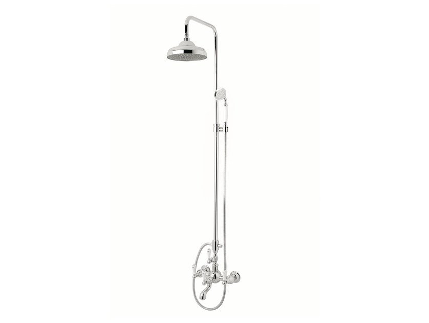 Wall-mounted shower panel with hand shower 035016.MC0.50 | Shower panel - Bronces Mestre