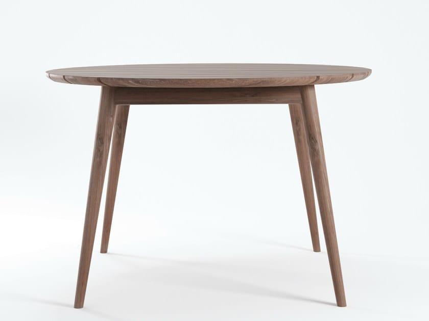 Round teak garden table VINTAGE OUTDOOR   Garden table - KARPENTER