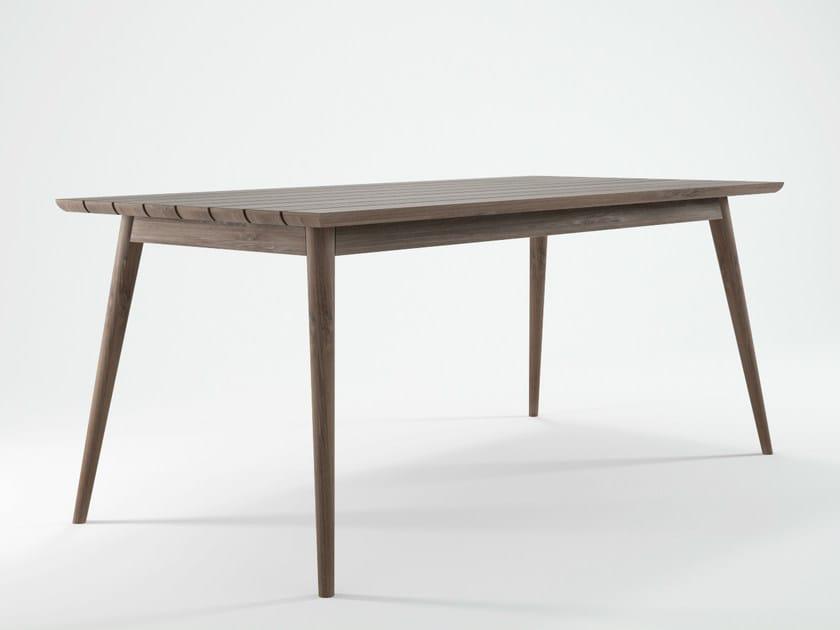 Rectangular teak garden table VINTAGE OUTDOOR | Rectangular table by KARPENTER