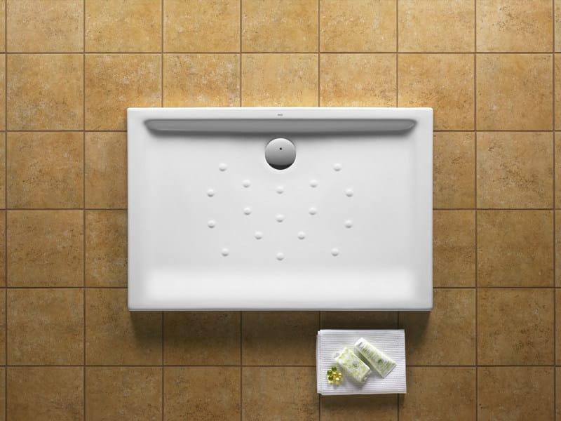 Malta plato de ducha rectangular by roca sanitario for Platos de ducha roca precios