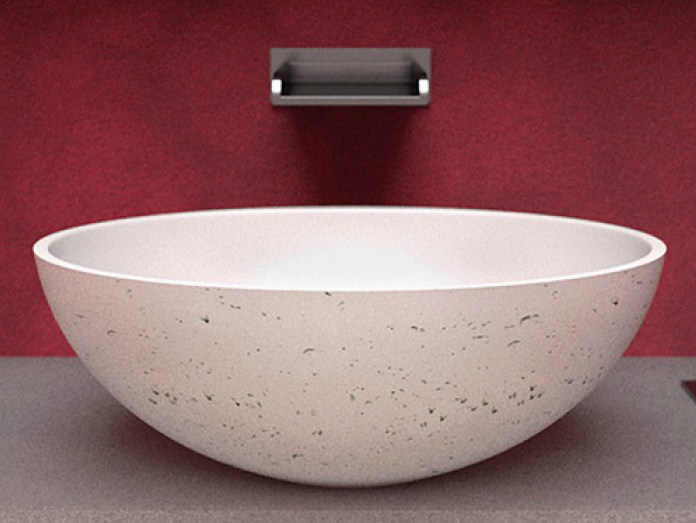 Countertop Teknoform® washbasin OVAL - Glass Design