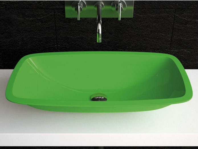 Countertop washbasin OPEN | Countertop washbasin by Glass Design