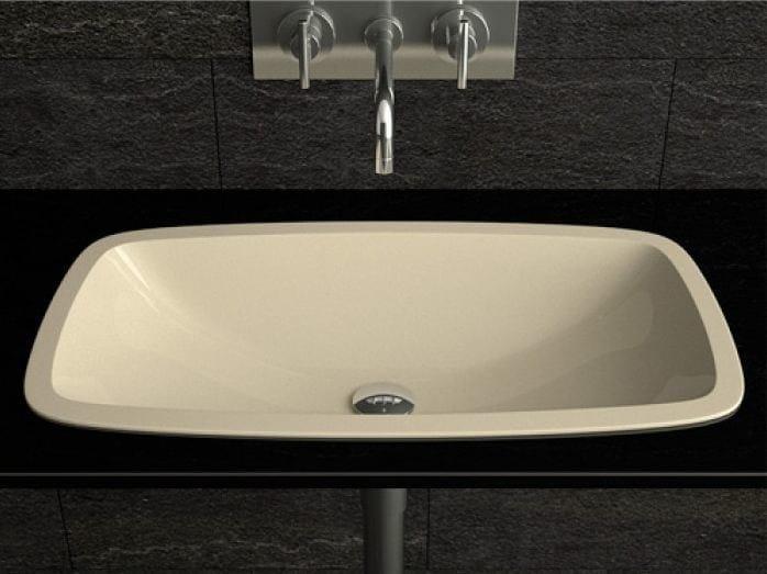 Inset rectangular washbasin OPEN | Inset washbasin by Glass Design