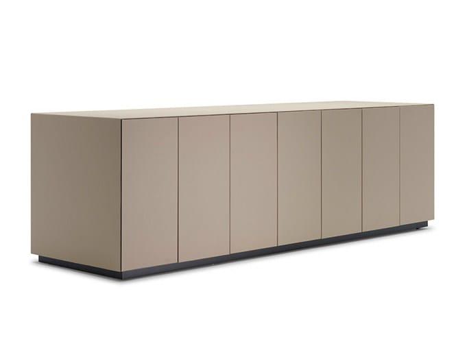 Low office storage unit C.E.O. CUBE CABINET | Office storage unit - Poltrona Frau