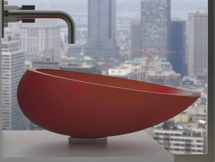 Countertop oval Vetro Freddo® washbasin KOOL - Glass Design