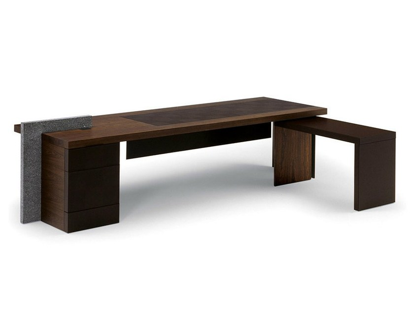 Executive desk H_O DESK by Poltrona Frau design Claudio Silvestrin