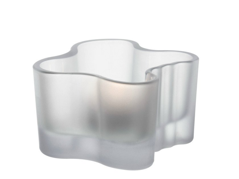 Satin glass candle holder ALVAR AALTO | Satin glass candle holder - iittala