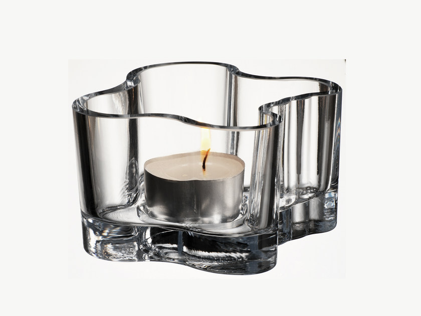 Glass candle holder ALVAR AALTO | Candle holder - iittala