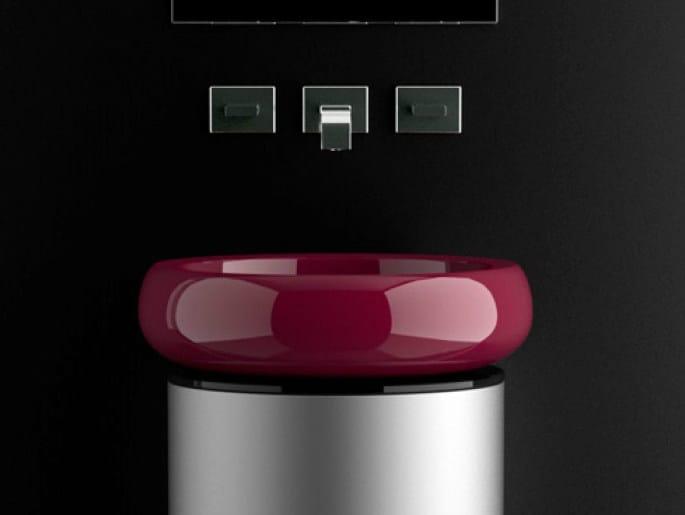 Countertop oval washbasin GLO BALL - Glass Design