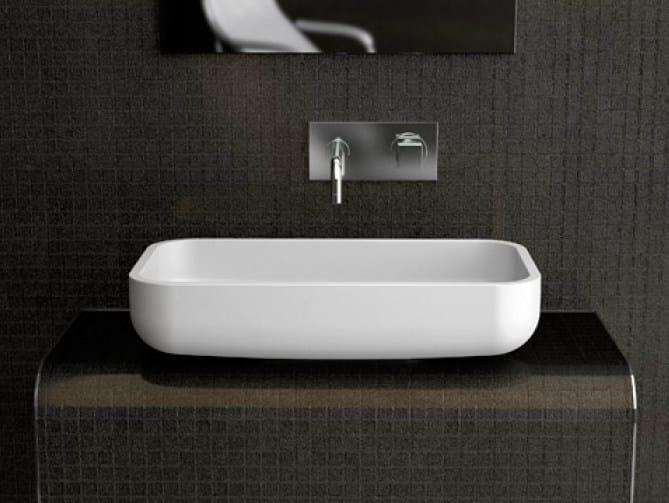 Countertop single washbasin JIMMY - Glass Design