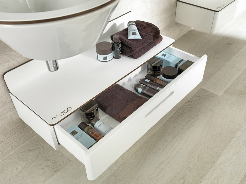 Low bathroom cabinet with drawers MOOD | Low bathroom cabinet - NOKEN DESIGN