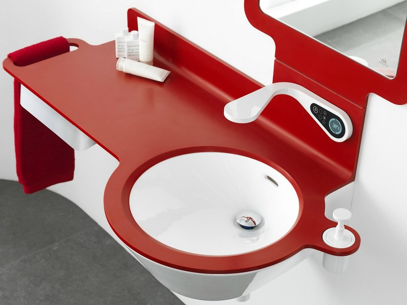 Single washbasin countertop MOOD | Washbasin countertop - NOKEN DESIGN