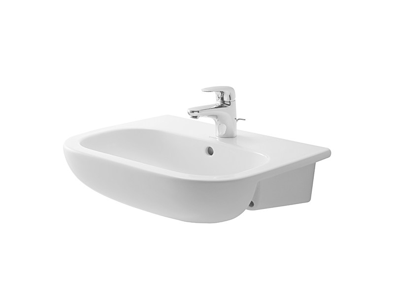 Semi-inset ceramic washbasin D-CODE | Semi-inset washbasin - DURAVIT