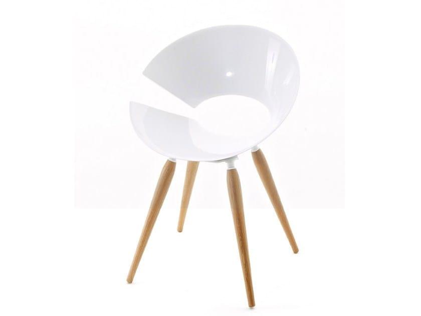Oak restaurant chair DIVA WOOD | Technopolymer chair - Colico