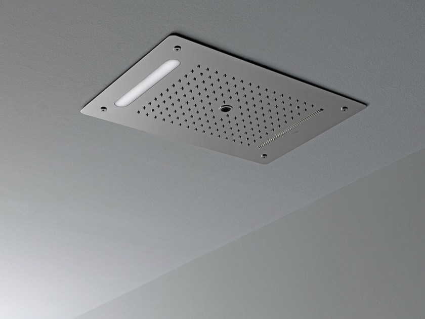 Ceiling mounted overhead shower with built-in lights LOUNGE | Ceiling mounted overhead shower - NOKEN DESIGN