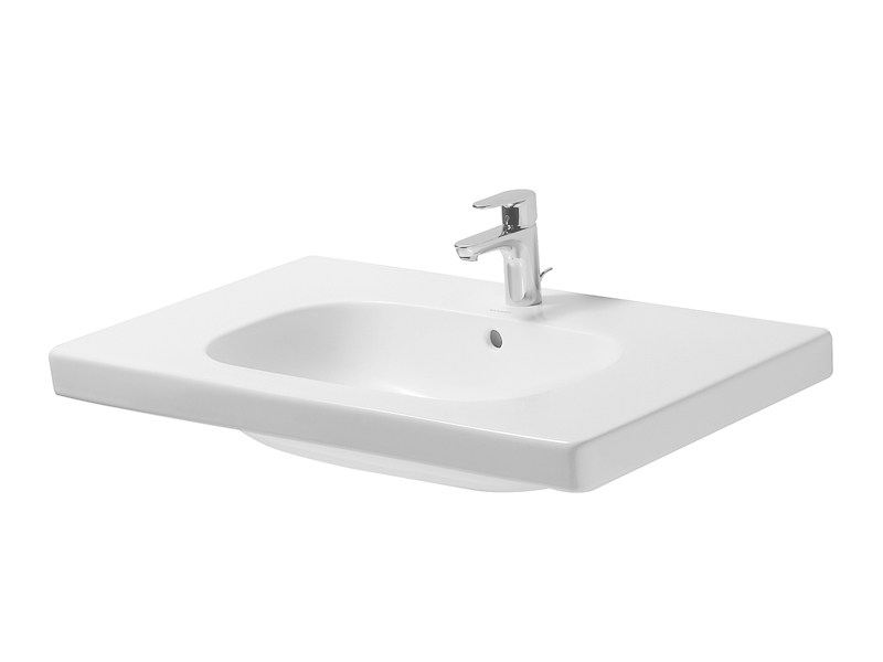 Rectangular ceramic washbasin D-CODE | Ceramic washbasin by Duravit