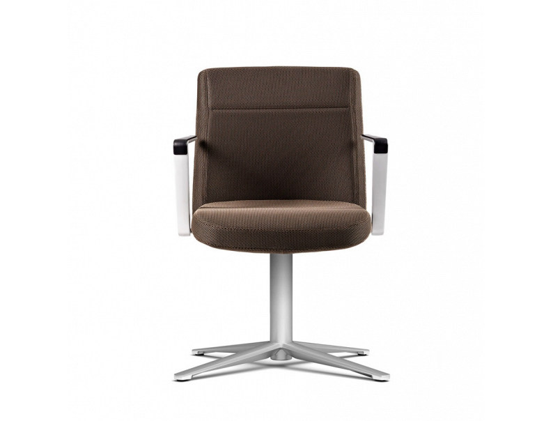 Height-adjustable task chair with 5-Spoke base with armrests CRON | Task chair - ACTIU