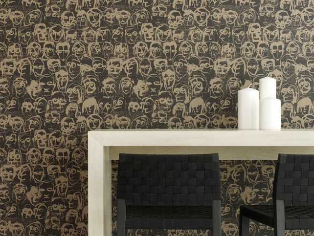 Nonwoven wallpaper LES AMIS by Equipo DRT