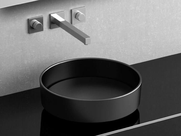 Countertop round washbasin RHO VISION - Glass Design