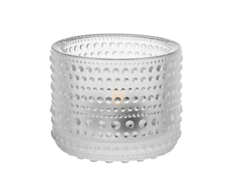 Satin glass candle holder KASTEHELMI | Satin glass candle holder - iittala