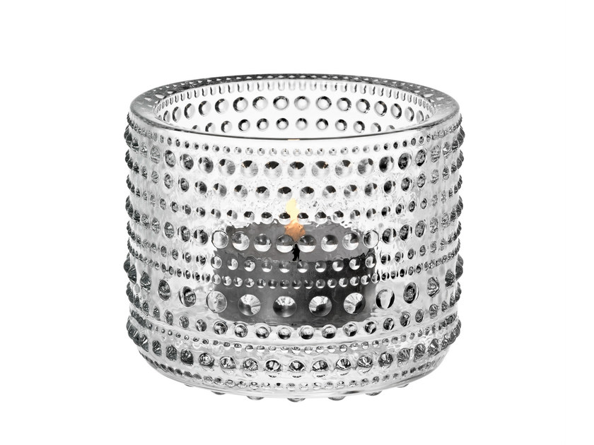 Blown glass candle holder KASTEHELMI | Glass candle holder - iittala