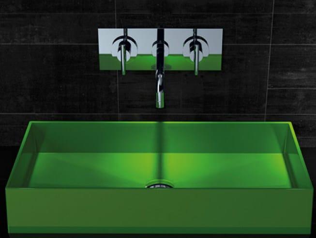 Countertop rectangular silicone washbasin BARCHETTA - Glass Design