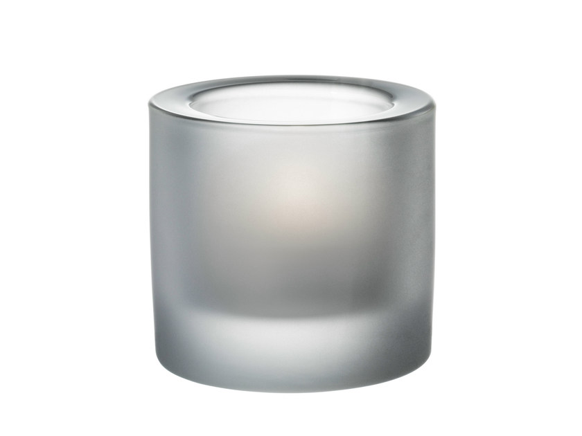Satin glass candle holder KIVI | Satin glass candle holder - iittala