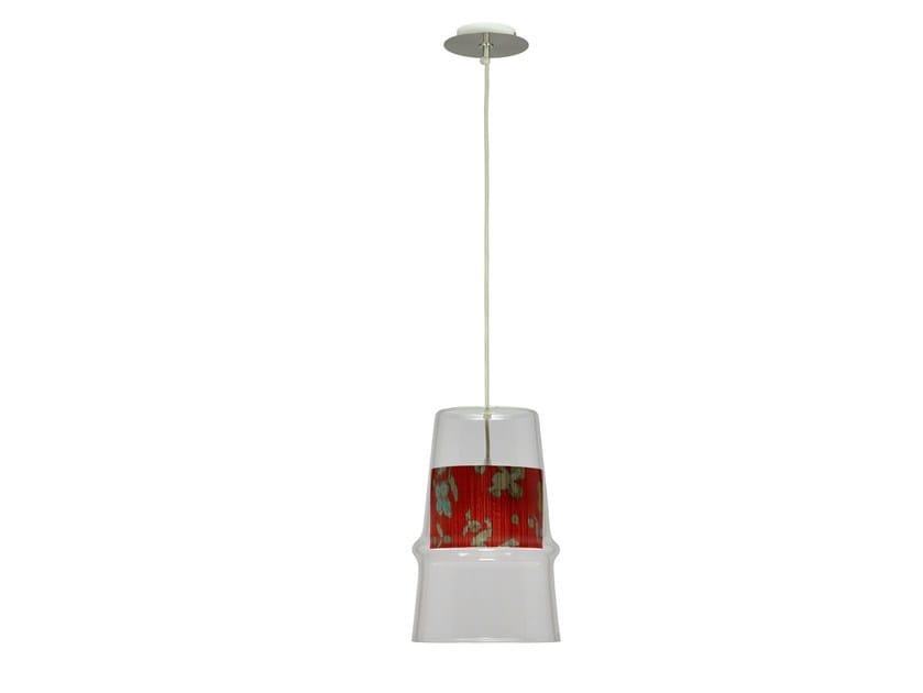 Glass pendant lamp BELLE D'I - LES PLISSÉS - Hind Rabii