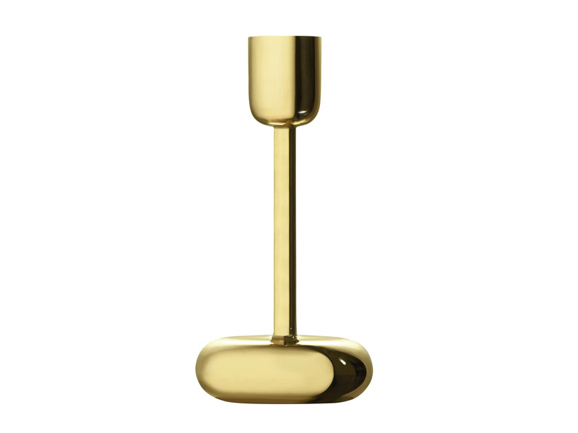 Brass candle holder NAPPULA | Brass candle holder - iittala