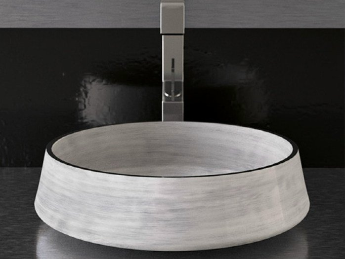 Countertop round washbasin EXTÈ by Glass Design