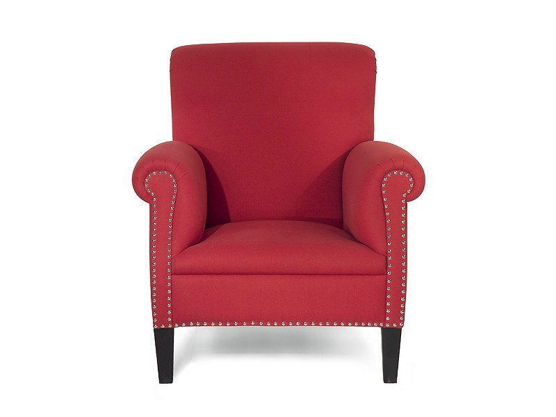 Upholstered fabric armchair with armrests BEGONIA | Armchair - MARIONI