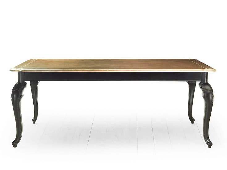 Rectangular solid wood table RIVOLI | Wooden table - MARIONI