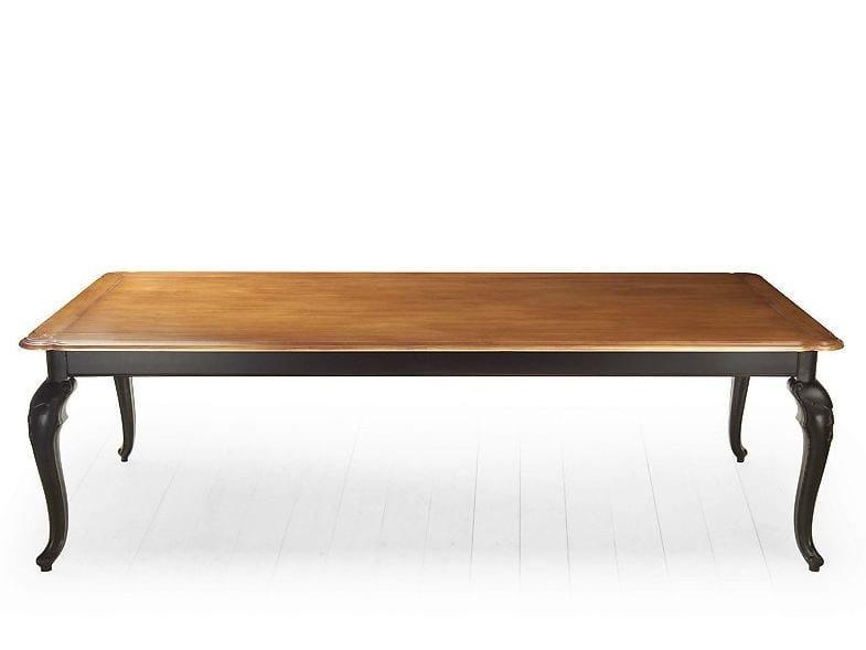 Rectangular solid wood table RIVOLI | Wooden table - MARIONI