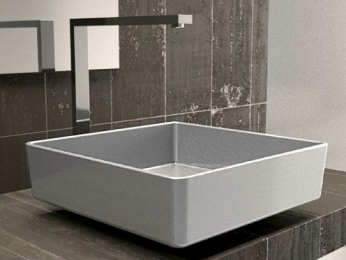Countertop square single washbasin FOUR STARLIGHT - Glass Design