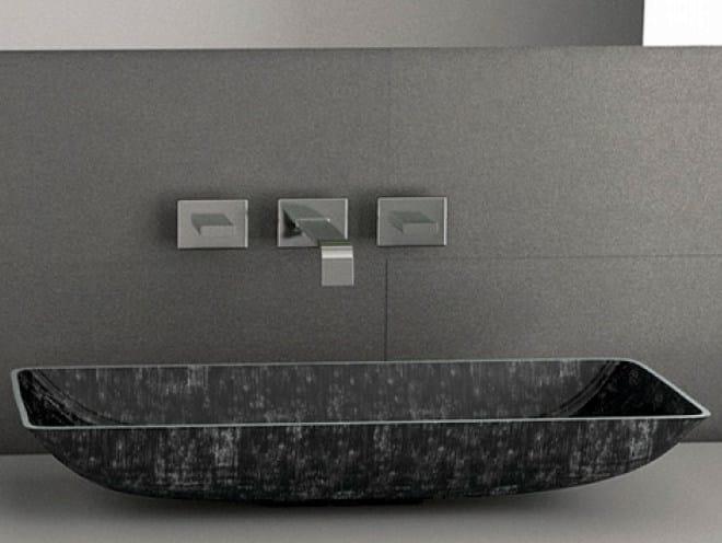 Countertop rectangular washbasin NEK by Glass Design