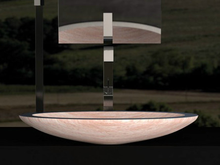 Countertop oval washbasin ARES - Glass Design