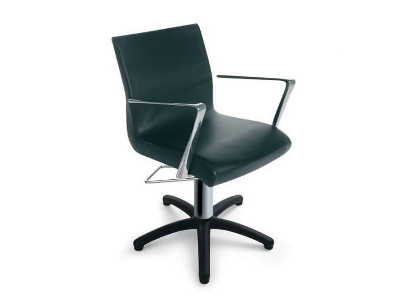 Hairdresser chair ALUOTIS ECOBLACK DIECI - Gamma & Bross